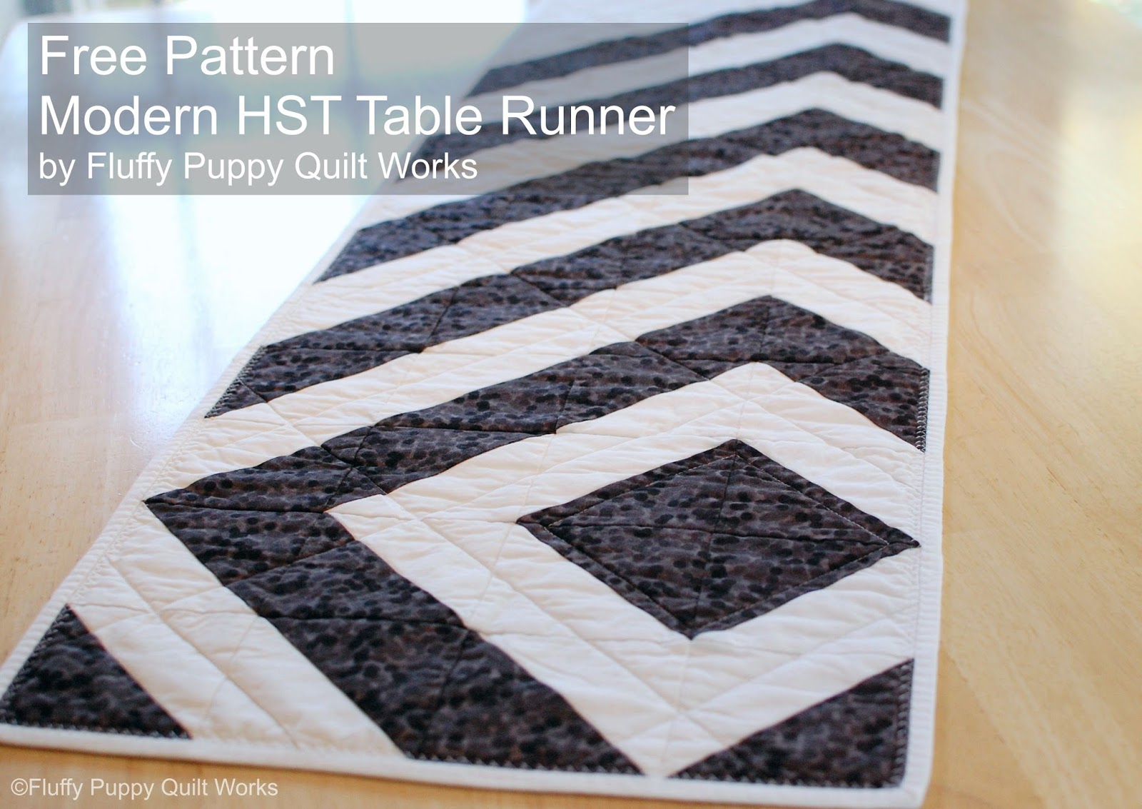 Fluffy puppy quilt works free pdf pattern modern hst for Table design patterns