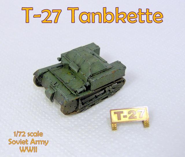 Gulumik Military Models: T-27 Tankette 1/72 Part- Gallery
