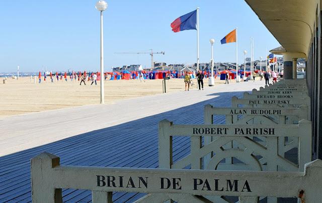 Nome de atores em Deauville - Normandia - França - Praia