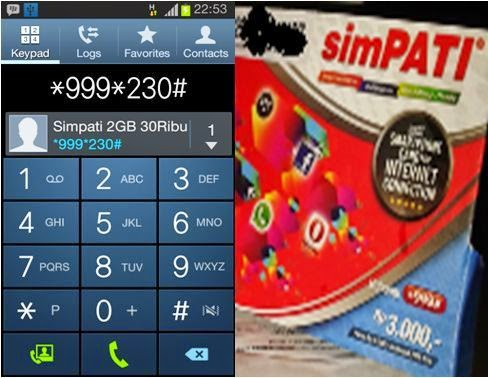 Rekomendasi Paket Internet SimPATI 2014 dan 2015 Termurah Kuota 2GB 30Ribu