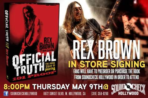 Rex Brown Book : horns up rocks pantera 39 s rex brown to host a book signing next week in california details ~ Vivirlamusica.com Haus und Dekorationen