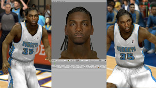 NBA 2K13 Kenneth Faried Cyber Face Mods
