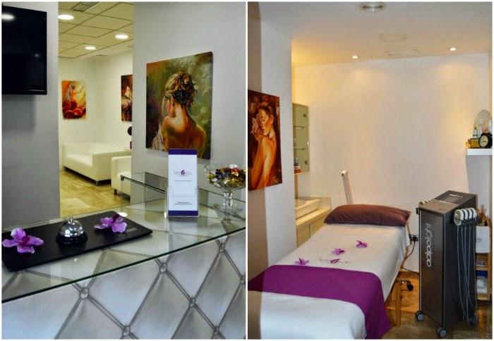 recepción y cabinas de tratamientos del centro estético