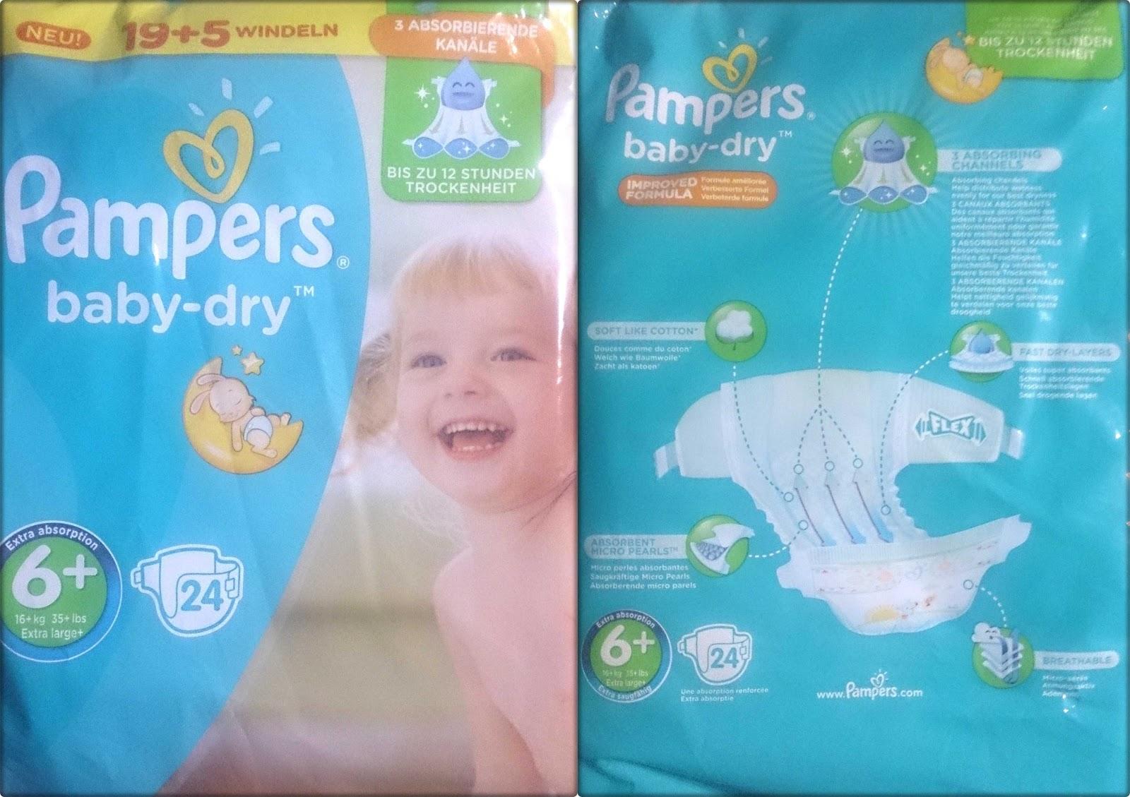jennifers windeltest produkttest pampers baby dry 6. Black Bedroom Furniture Sets. Home Design Ideas