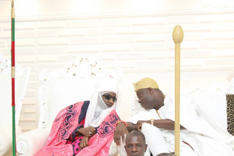 Ooni Of Ife Hosts Emir Of Kano, Lamido Sanusi In His Palace In Osun State (Pics)