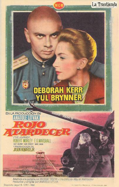 Rojo Atardecer - Programa de Cine - Deborah Kerr - Yul Brynner
