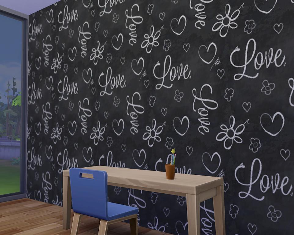 My Sims 4 Blog: Chalkboard Walls by Mattinsimblrland Sims 1 Walls