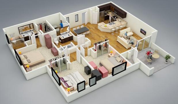 Contoh Model Desain Rumah Minimalis Type 54 Terbaru Rumah Minimalis