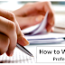 How to Write an Essay- Professional Tips