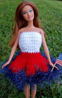 labor day crochet dress for barbie