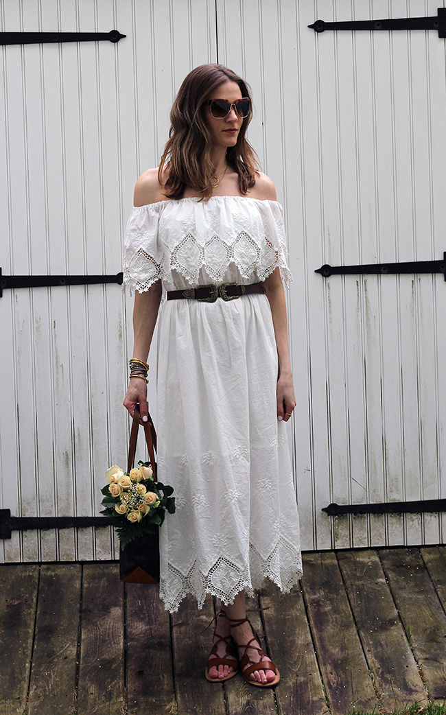 White Lace Maxi Dress Ww Link Up Threads For Thomas