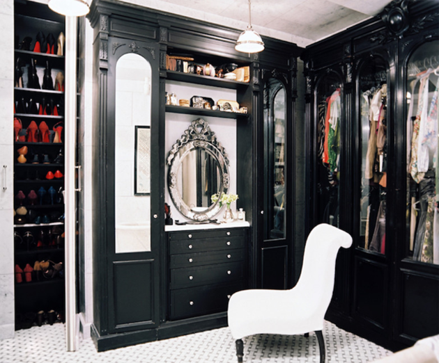 black luxury closets ideas with mirror