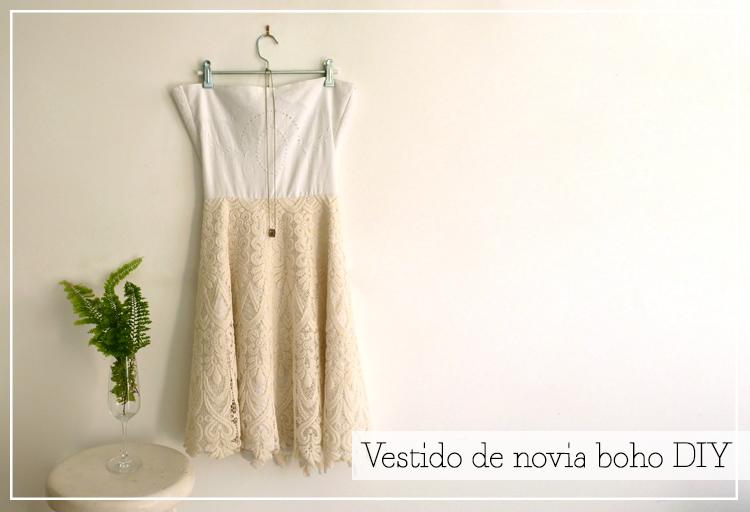 como hacer vestido de novia boho DIY