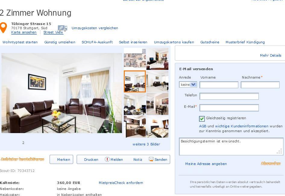 britabakenecker 2 zimmer wohnung t binger. Black Bedroom Furniture Sets. Home Design Ideas