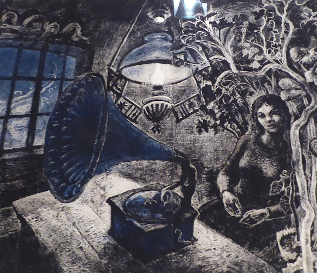 Galerie Espolin à Kabelvag : Kaare Espolin Johnson : La jeune fille au gramophone