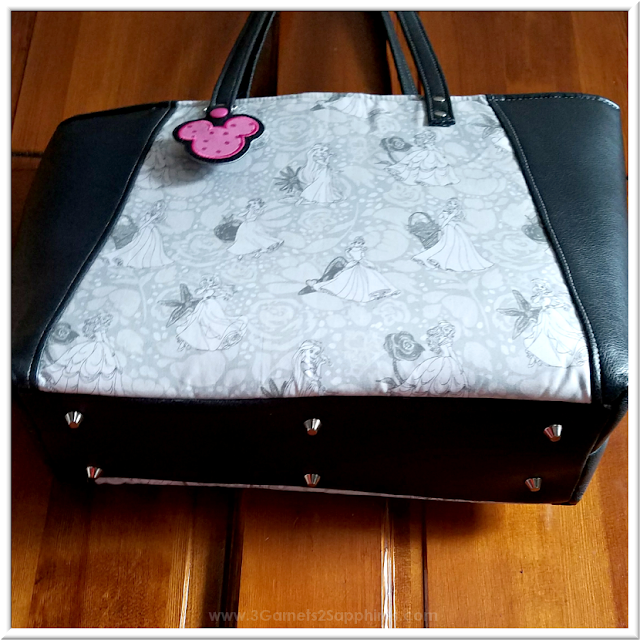 Custom Disney Princesses Tote Bag   3 Garnets & 2 Sapphires