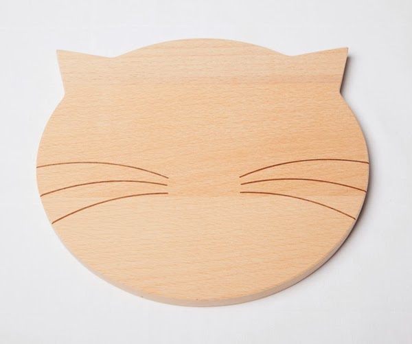 cat themed bread board - fun products for cat people