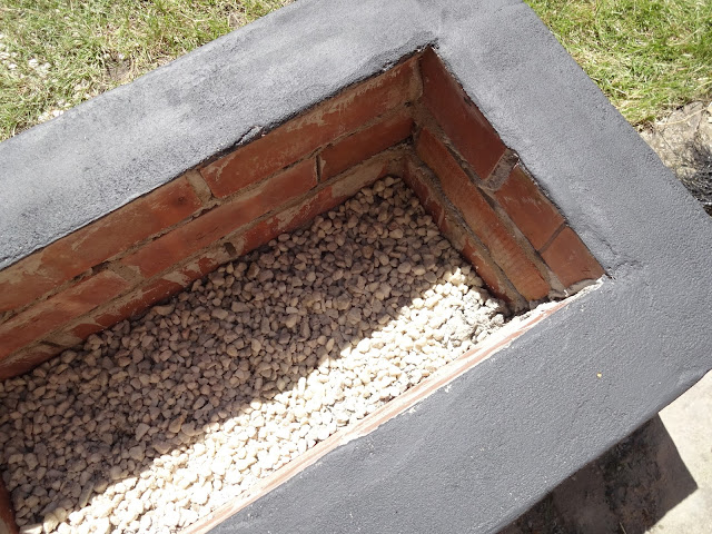 gravel in the bottom of fire pit