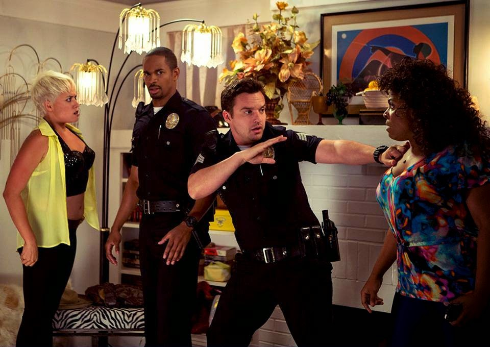lets be cops briana venskus damon wayans jr jake johnson jwaundace candece