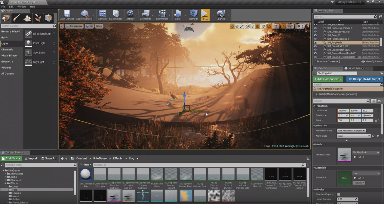 Volumetric Fog and Lighting in Unreal Engine 4 | Andrew Dowell