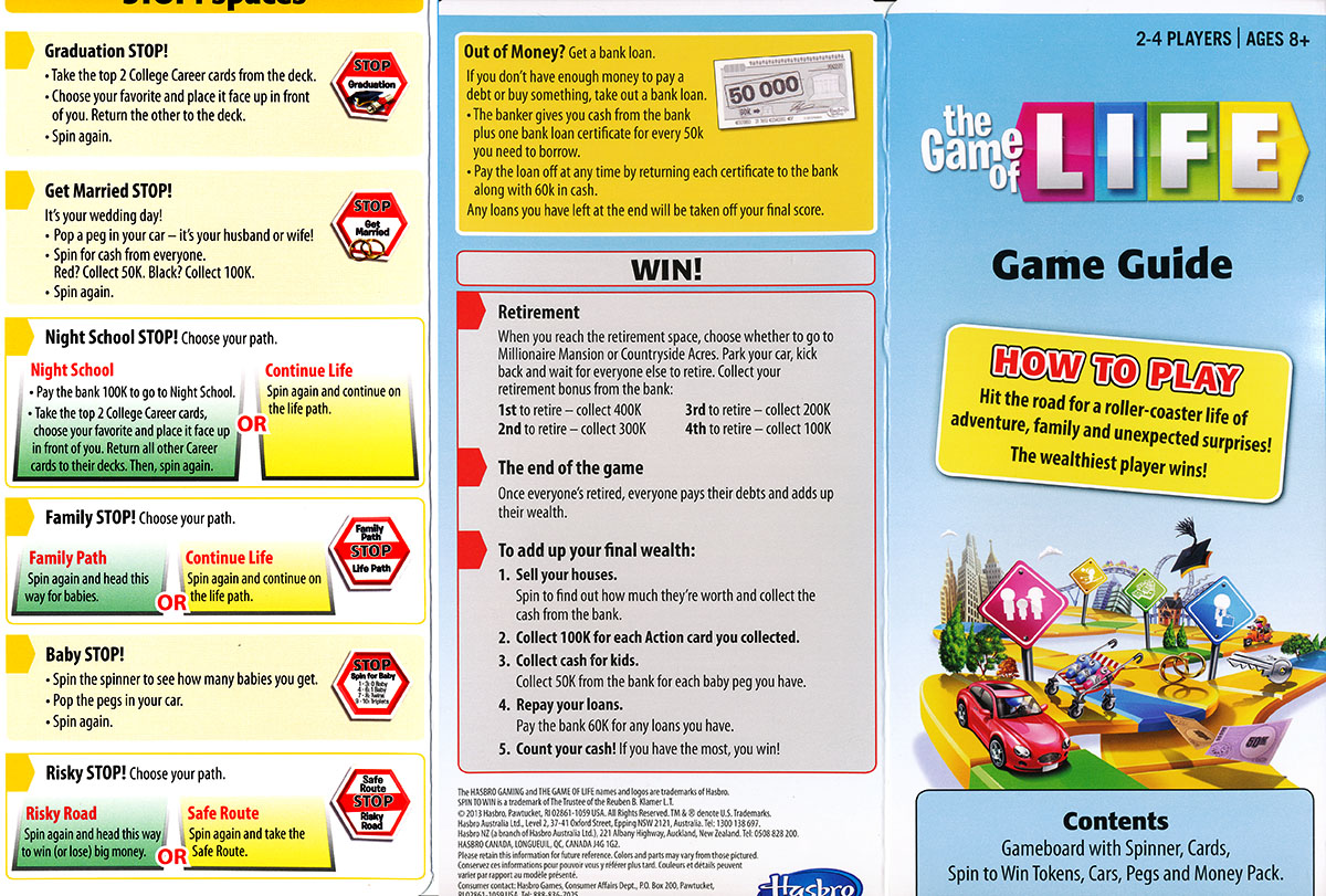 The Game of Life | Board game manuals Wiki | Fandom