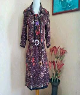 model baju batik atasan wanita berhijab
