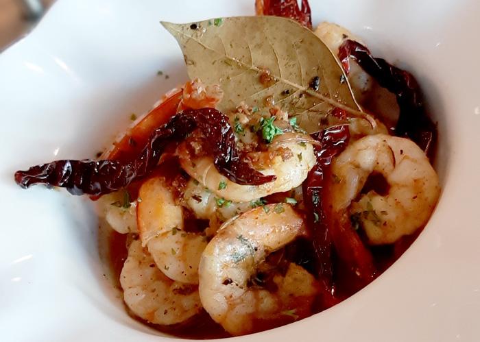Gambas al Ajillo, Cafe Marco's Signature dish