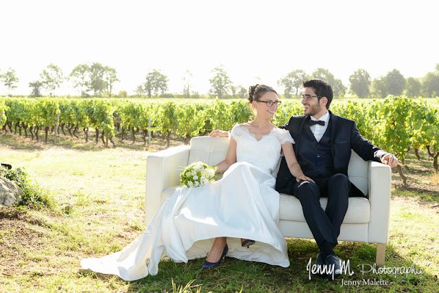 photos portrait volée des mariés durant cérémonie