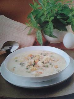 Sopa de verdura a la griega