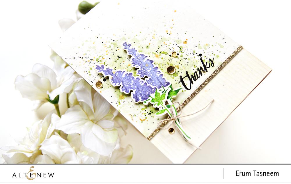 Altenew Lavender Bud Stamp Set | Erum Tasneem | @pr0digy0