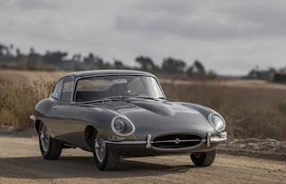 Jaguar E-Type Aerodynamics Classic Car Gray Color