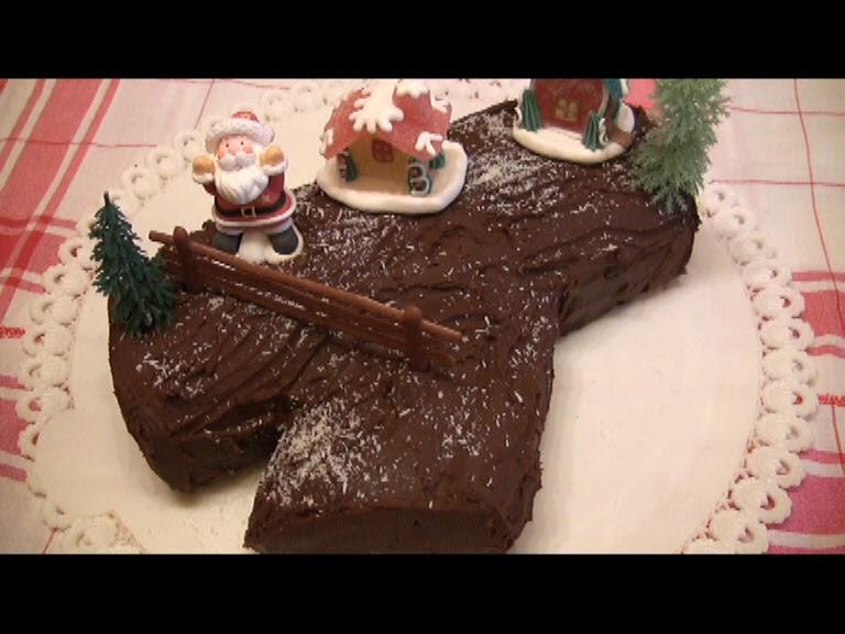 Come Decorare Il Tronchetto Di Natale.Il Bellissimo Mondo Di Antonella Decorating Tronchetto Di Natale