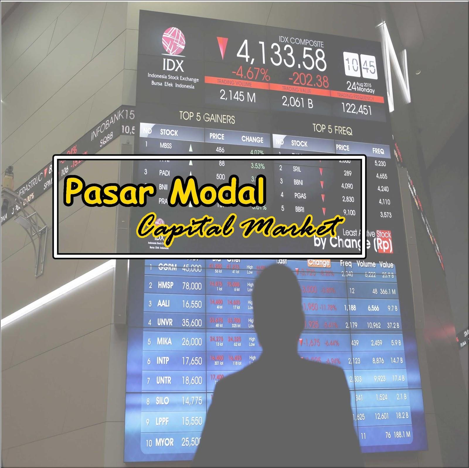 Materi Pasar Modal Definisi Jenis Fungsi Tujuan Peran Dan Produk Edusaham