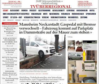 Mannheim Neckarstadt: Gaspedal mit Bremse verwechselt - Fahrzeug kommt auf Parkplatz in Dammstraße auf der Mauer zum stehen  http://tvueberregional.de/mannheim-neckarstadt-gaspedal-mit-bremse-verwechselt-fahrzeug-kommt-auf-parkplatz-in-dammstrasse-auf-der-mauer-zum-stehen/