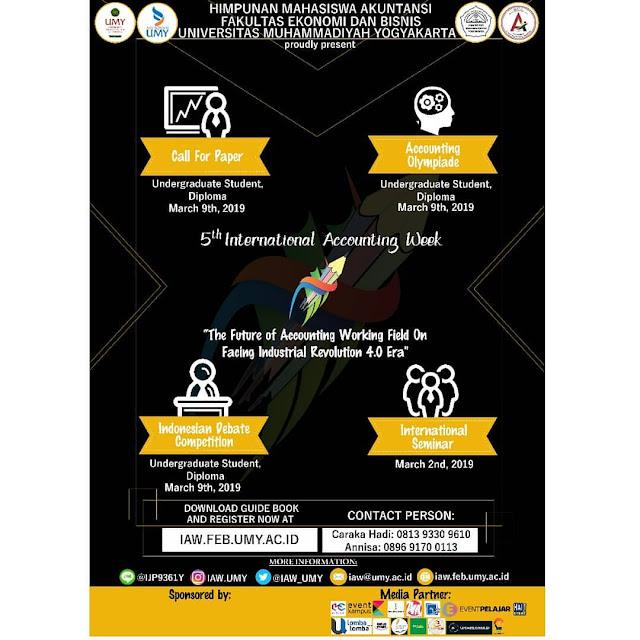 Event 5th International Accounting Week 2019 Mahasiswa
