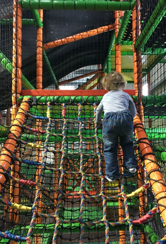 Mambo-Soft-Play-Cardiff-A-Toddler-Explores-image-of-toddler-on-netting
