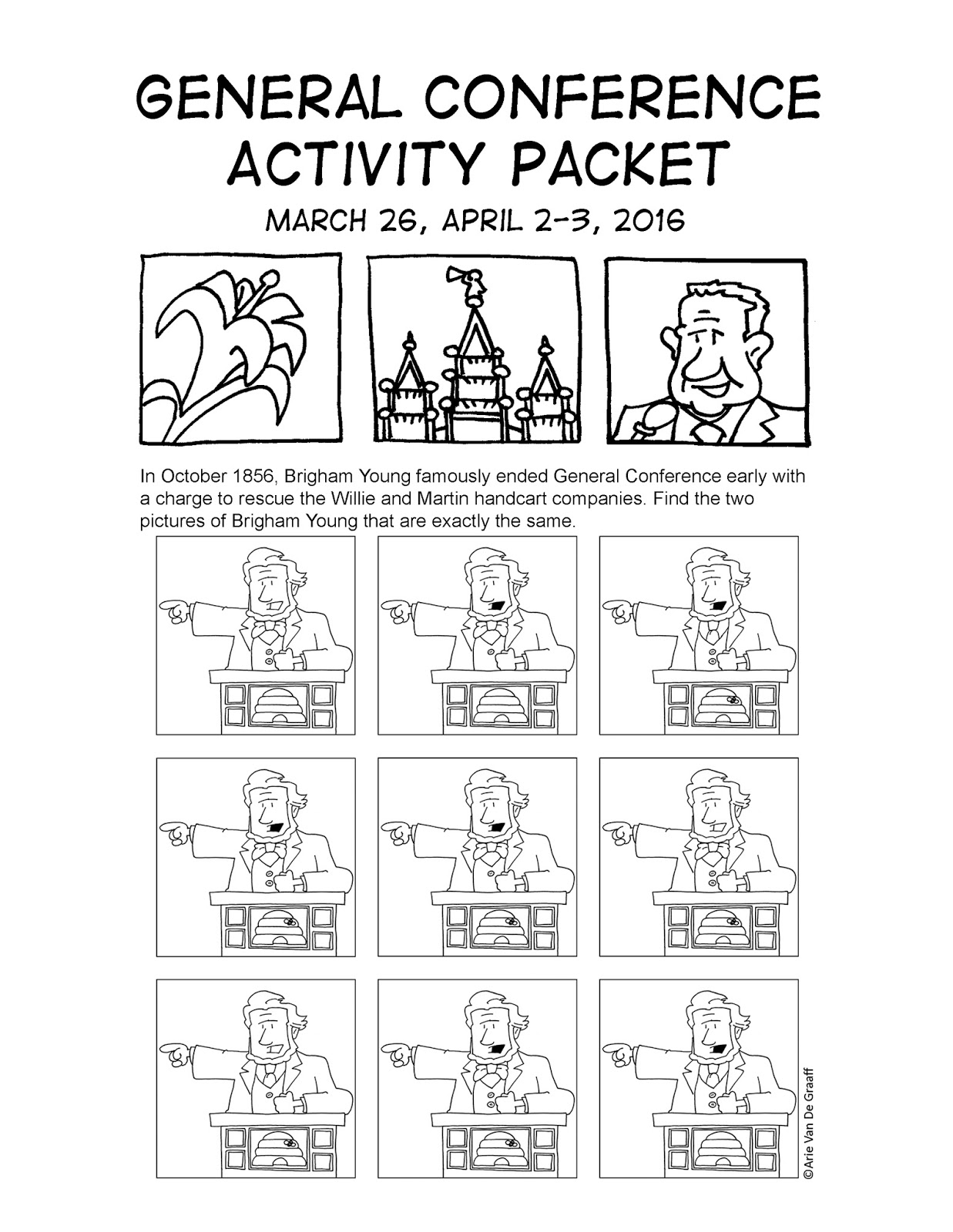 Mormon Cartoonist Your April 2016 General Conference Activity Packet