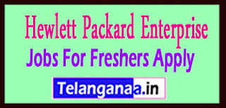 Hewlett Packard Enterprise Recruitment 2017 Jobs For Freshers Apply