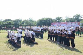 Upacara HUT RI Dimeriahkan Tari Saman Kolosal 650 TNI