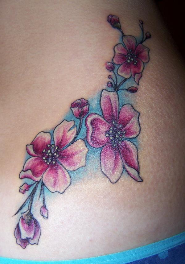 Cherry Blossom Tattoo Designs: Cherry Blossom Tattoo Designs For Girls