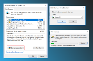 Proses Clean up system files