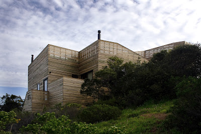 Timber ventilated facade house