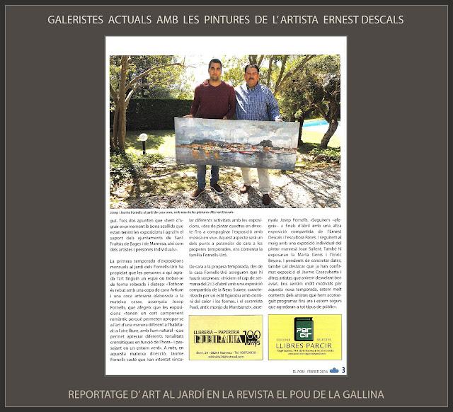 ART-JARDÍ-GALERISTES-PINTURA-MANRESA-PINTURES-PINTOR-ERNEST DESCALS-REPORTATGES-REVISTA-POU DE LA GALLINA-
