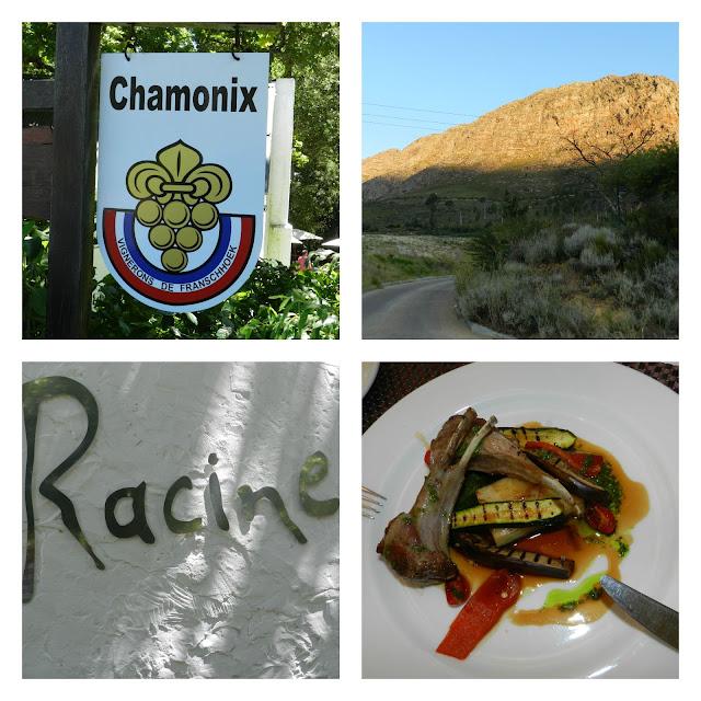 Degustação na vinícola Chamonix e almoço no Racine (Franschoek - África do Sul)