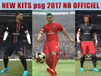 PES 2016 New Kits For PSG 2017 by nidal0xp
