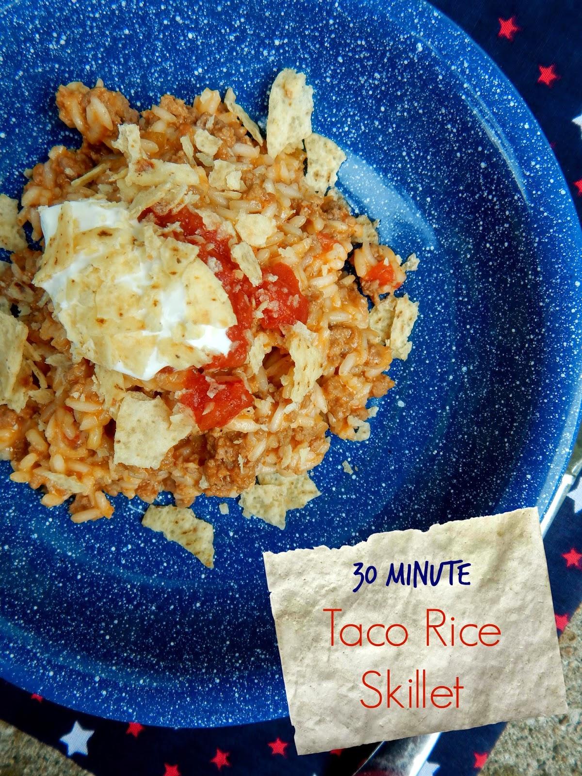 30-minute taco rice skillet (sweetandsavoryfood.com)