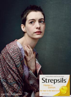 Funny Les Miserables - Anne Hathaway - Vogue - Strepsils