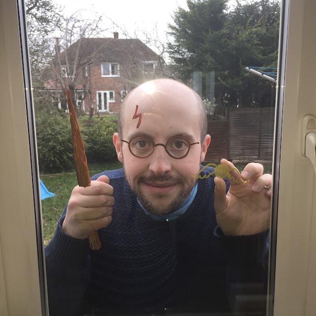 Liam as Harry Potter using Chalkola window markers