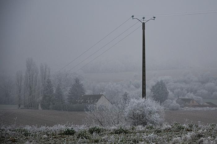 campagne dans l'hiver