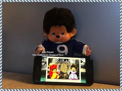 kiki monchhichi vintage poupée doll collection yeux bleus footballeur